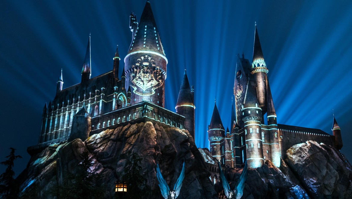 """""""The Nighttime Lights at Hogwarts Castle"""" at """"The Wizarding World of Harry Potter"""" at Universal Studios Hollywood"""