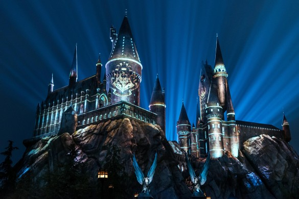 """The Nighttime Lights at Hogwarts Castle"" at ""The Wizarding World of Harry Potter"" at Universal Studios Hollywood"