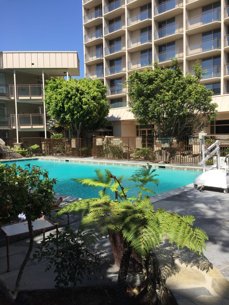 discover torrance doubletree pool area