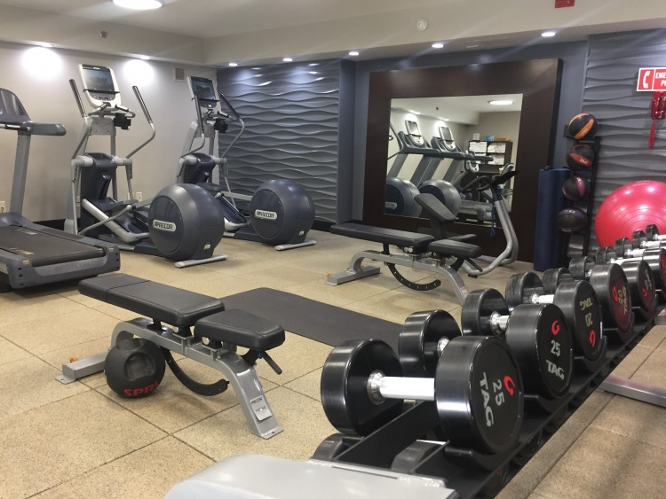 discover torrance doubletree workout room