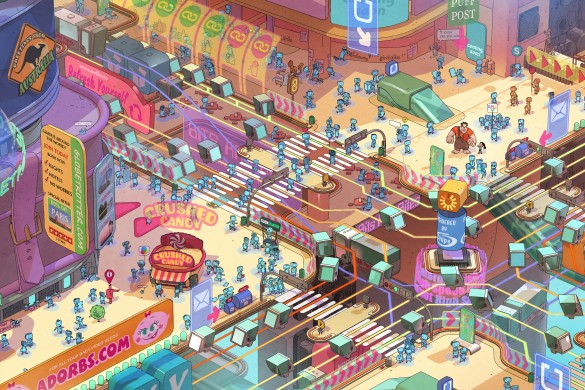 RALPH BREAKS THE INTERNET - Internet surface web environment visual development by Matthias Lechner (Art DIrector, Environments) ©Disney. All Rights Reserved.