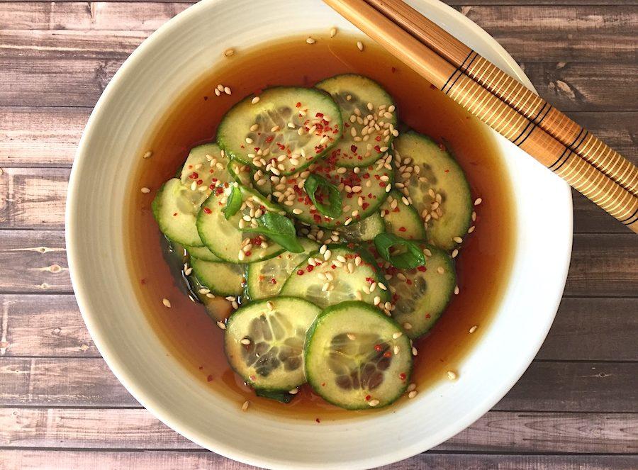 korean cucumber salad, banchan
