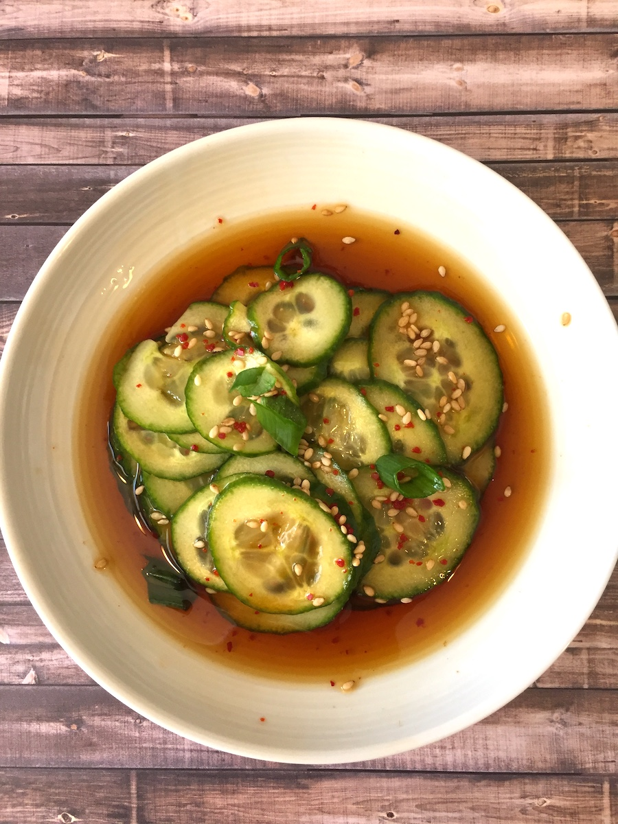korean cucumber salad, banchan