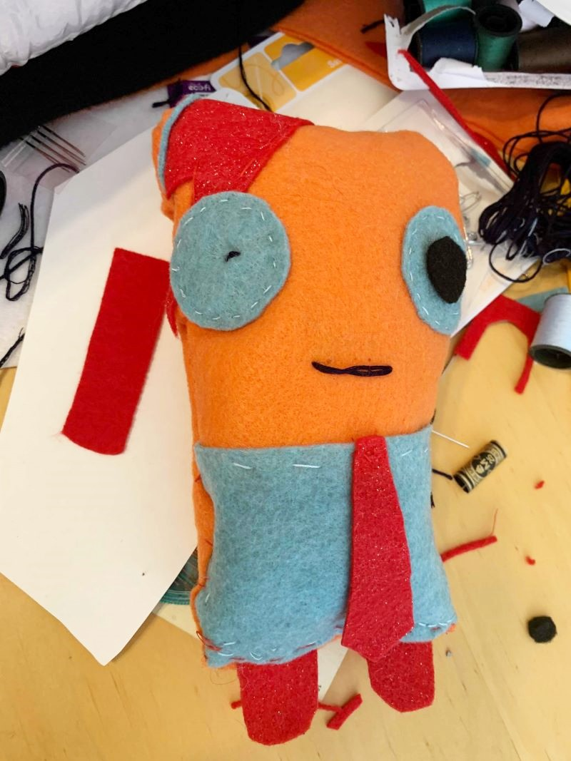 David Bowie Plush, Uglydolls, DIY uglydoll, crafts