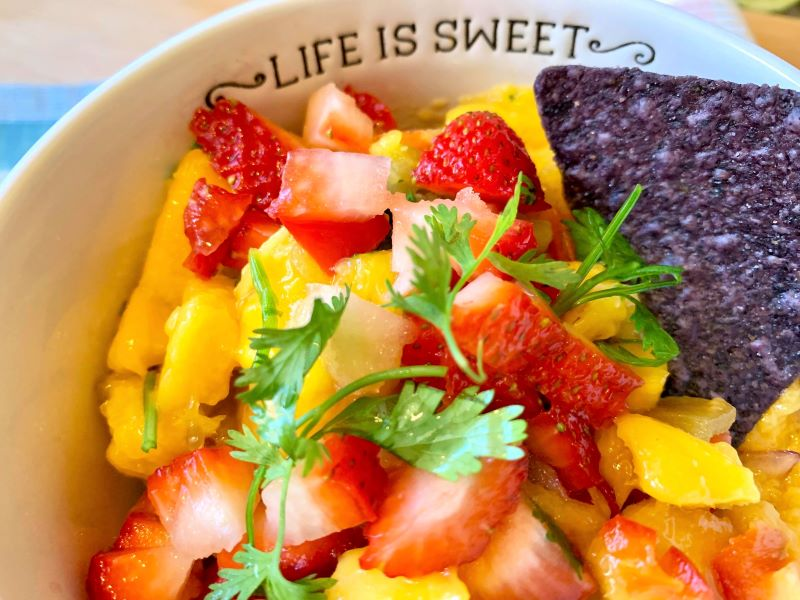mango strawberry salsa