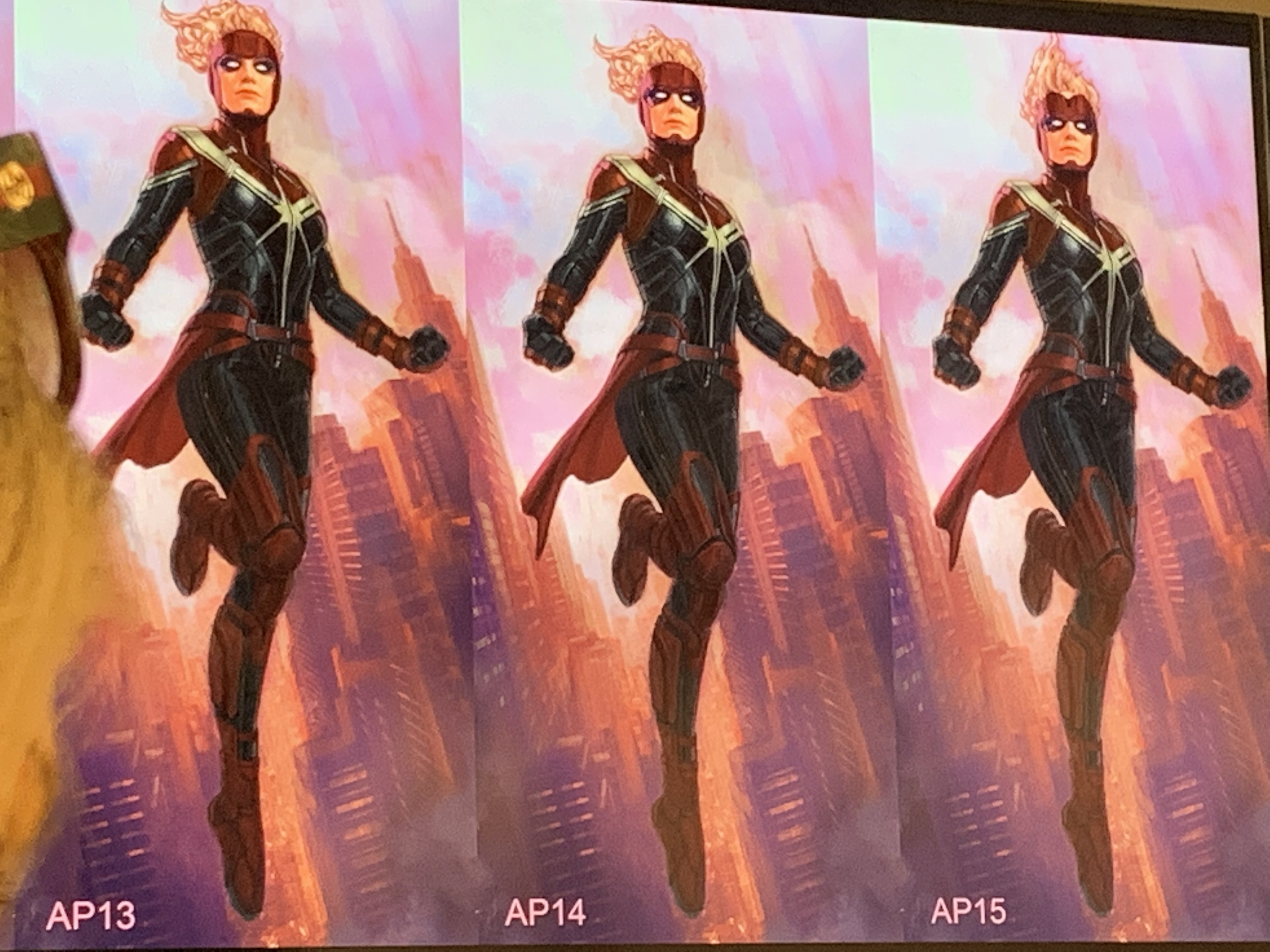 Marvel Studios Concept Artist Andy Park Discusses Captain Marvel That S It La Oh and i found an old lady to punch. that s it la