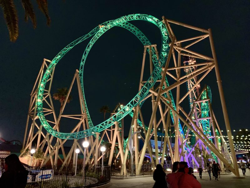 knotts summer nights, hangtime rollercoaster