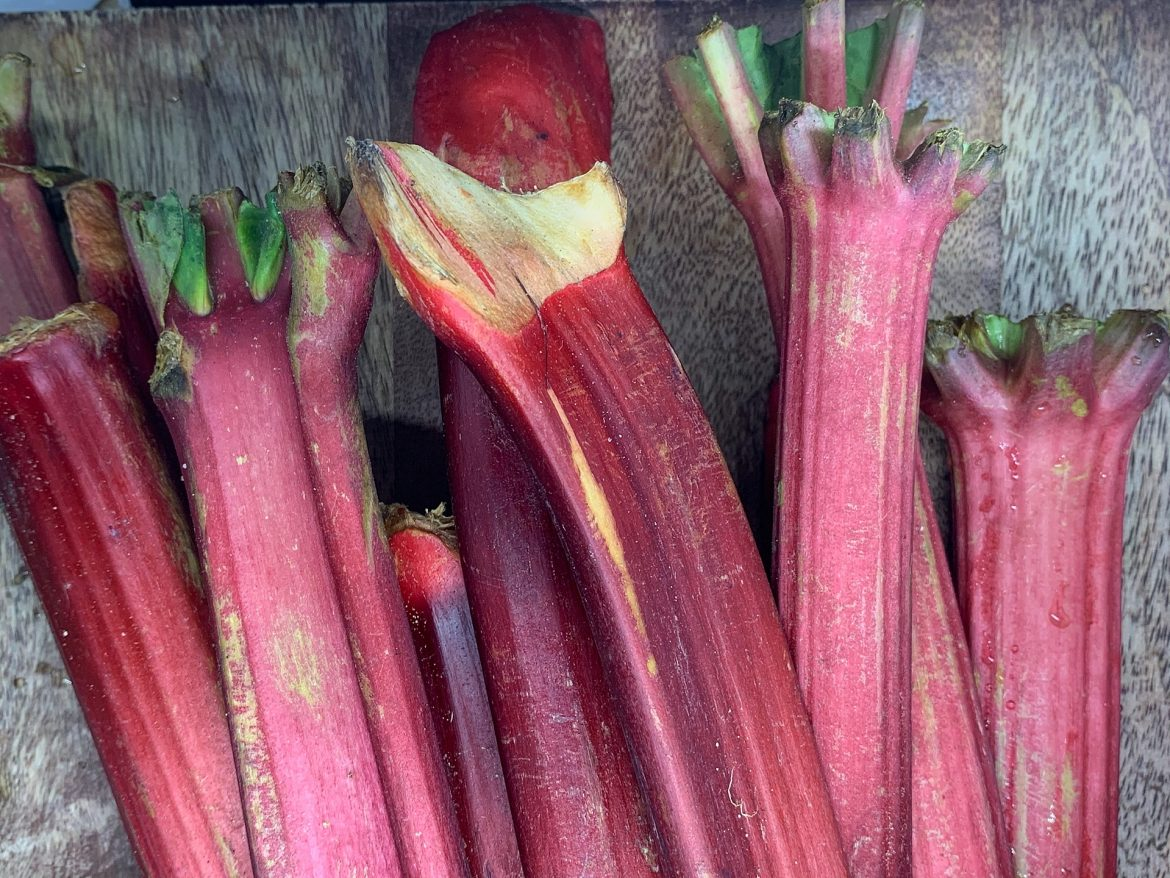 Rhubarb strawberry simple syrup