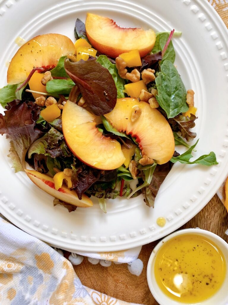 simple peach salad recipe
