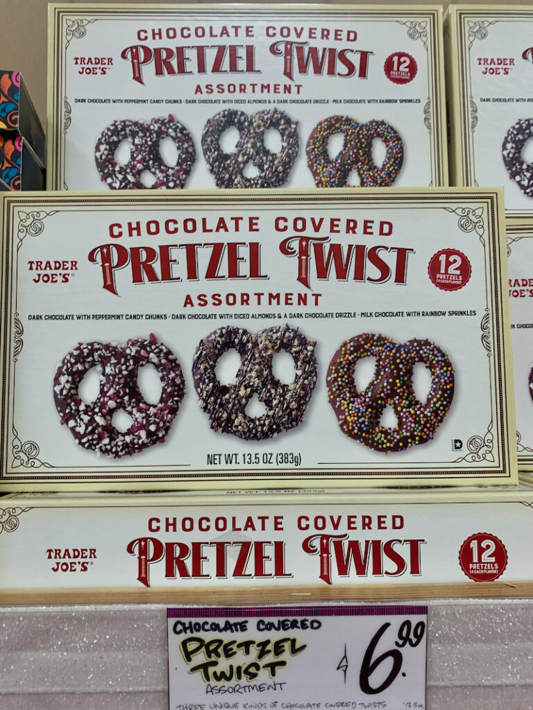 Trader joes holiday chocolate covered pretzel twist