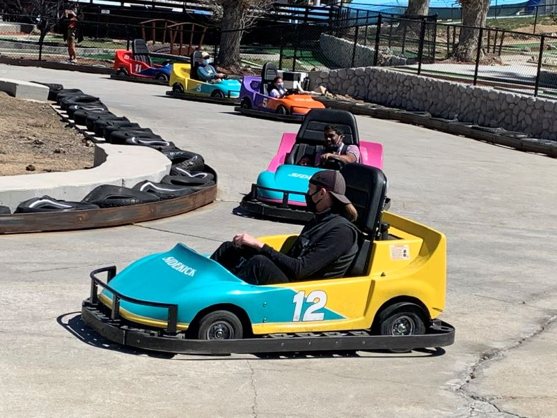 magic mountain, go karts