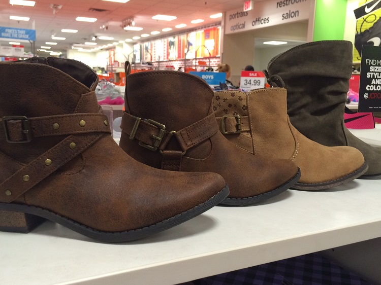 JC Penney back to school shoes, JC penney deals