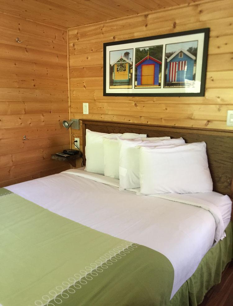 San Diego KOA deluxe cabin bedroom