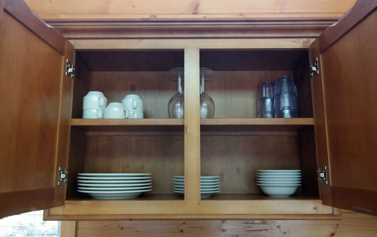 Full service kitchen in Deluxe Cabins