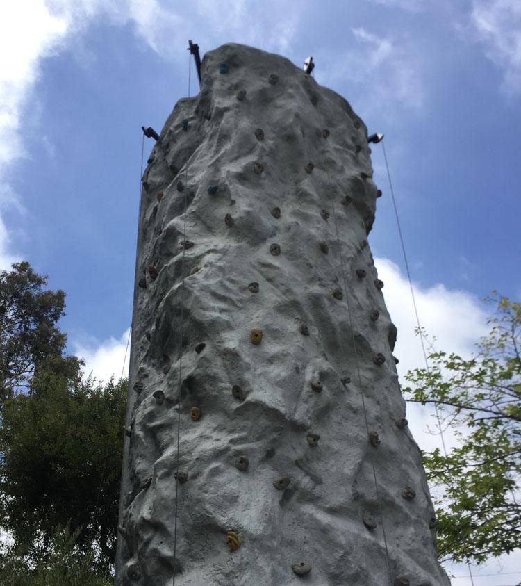 San Diego KOA Rock Wall