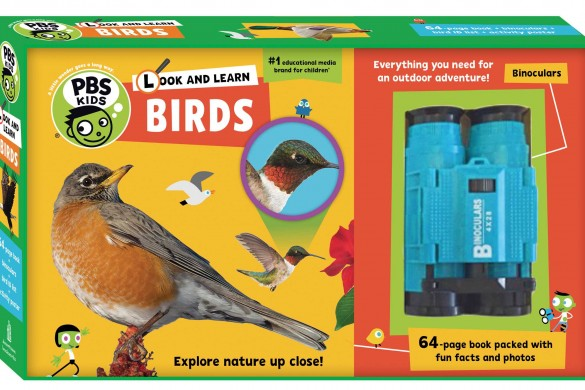 look and learn birds book, pbs kids, nature adventurers
