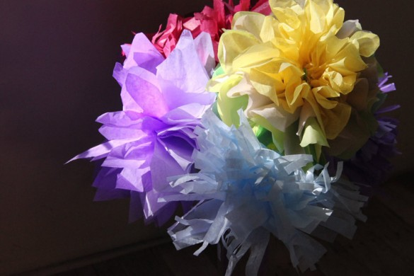 Ice age easter, easy DIY paper flowers, Tissue Paper flowers