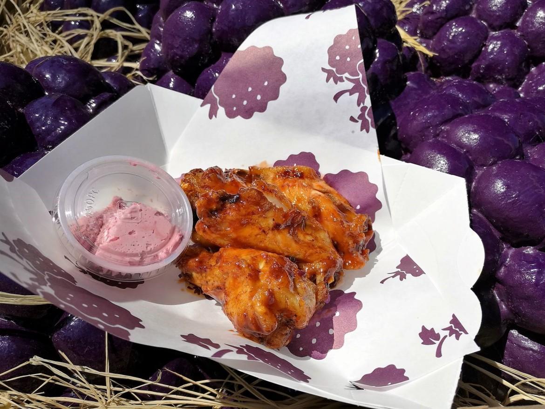 Knotts Boysenberry Festival Tasting Cards, boysenberry BBQ wings