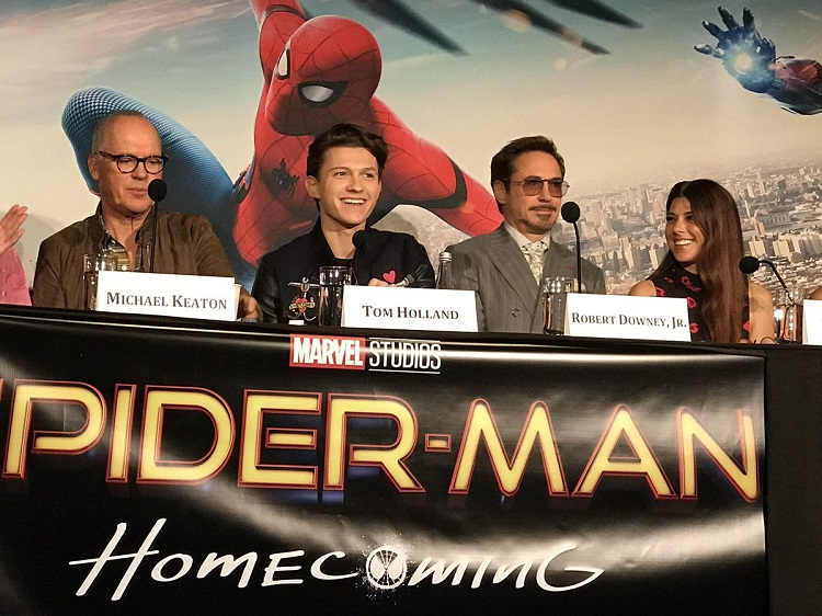 Spider-man homecoming, tom holland spider-man, michael keaton super-man, super-man homecoming press conference