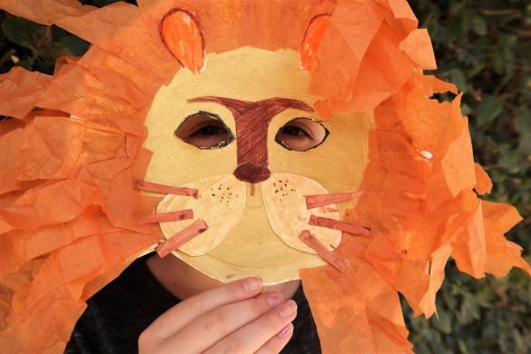 lion king paper plate mask, paper plate Lion mask