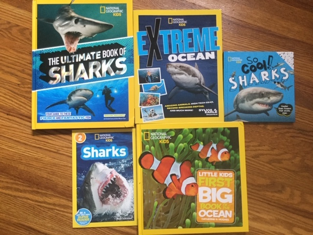 national geographic shark books giveaway