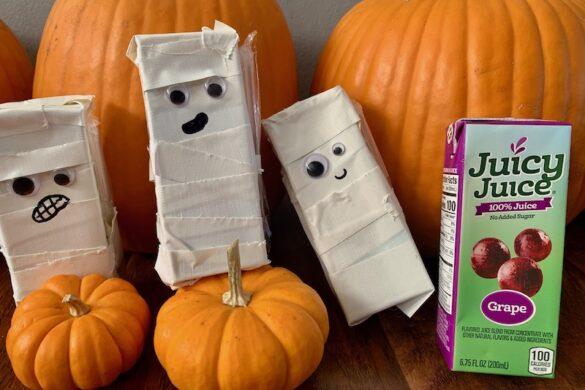 mummy juice box halloween craft